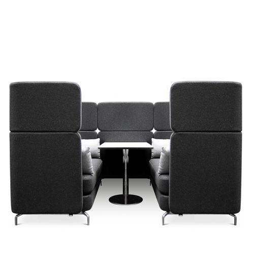 Divano moderno / in lana / in pelle / per edifici pubblici W-LOUNGE Wagner - Eine Marke der Topstar GmbH