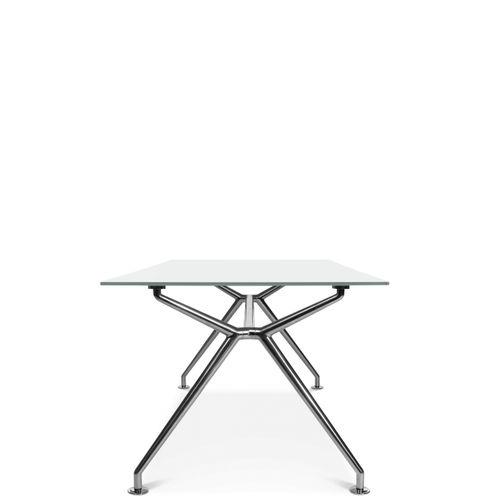 tavolo moderno / in vetro / in alluminio / in laminato