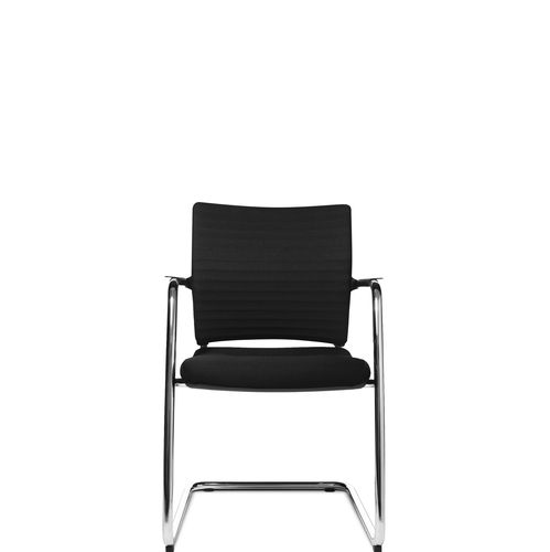 sedia visitatore moderna / con braccioli / imbottita / cantilever