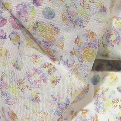 tessuto per tende / a motivi / in poliestere / in cotone