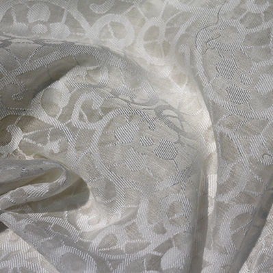 tessuto per tende / a motivi / in lino / in poliestere