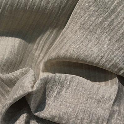 tessuto per tende / a tinta unita / in poliestere / in lino