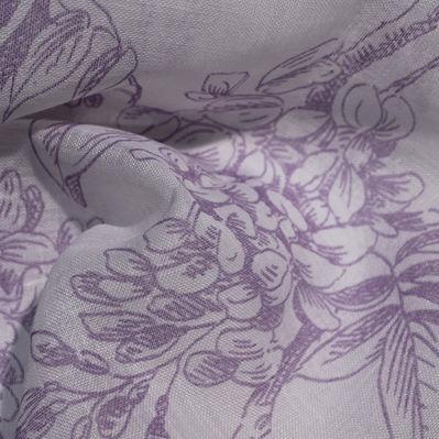 tessuto per tende / a fiori / in poliestere / in lino