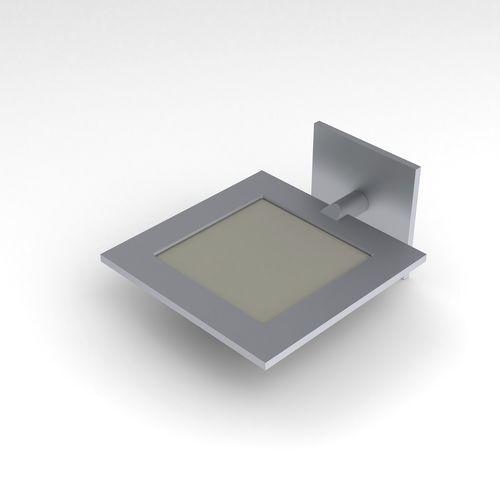 applique moderna / in alluminio / OLED / quadrata