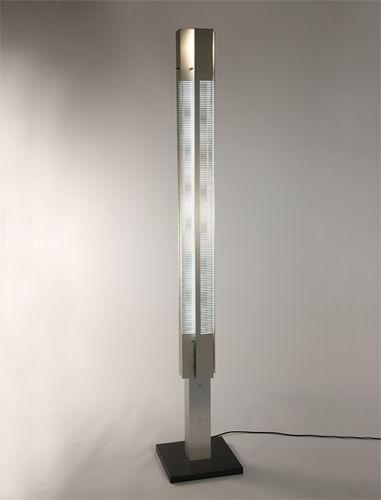 colonna luminosa moderna / in alluminio / a lampada fluorescente / da interno