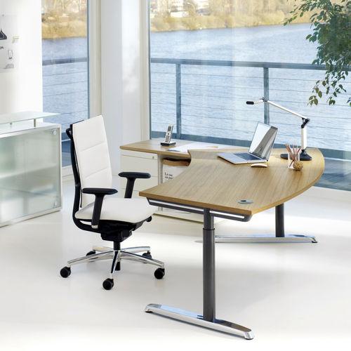 scrivania in metallo / moderna / contract / ad altezza regolabile