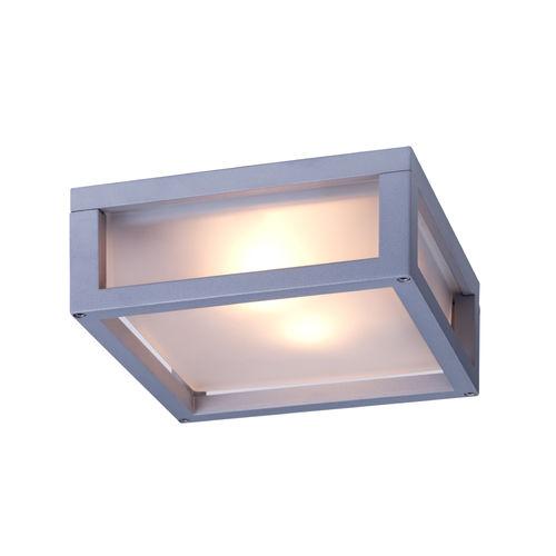 luce fluorescente compatta / quadrata / da esterno / in alluminio
