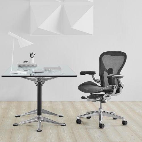 poltrona da ufficio moderna / in metallo / a rete / con rotelle