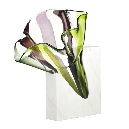 vaso design originale / in vetro soffiato / in marmo