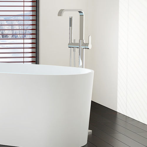miscelatore per lavabo / per vasca / a pavimento / in ottone cromato