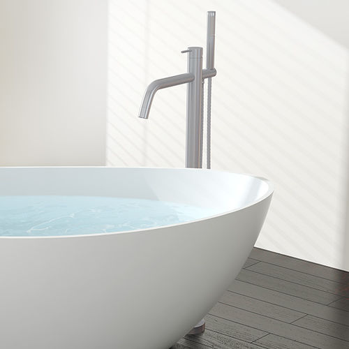 miscelatore per lavabo / da vasca / a pavimento / in ottone cromato