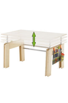scrivania moderna / ad altezza regolabile / per bambini