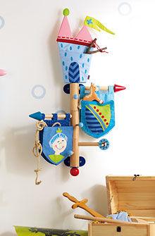 Appendiabiti a muro / moderno / in metallo / per bambini KNIGHTS' CASTLE HABA