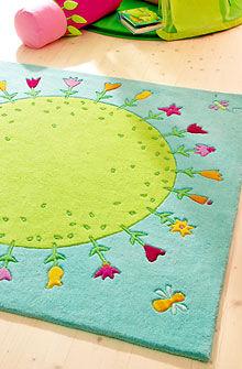 Tappeto moderno / a motivi / in lana della Nuova Zelanda / rettangolare PLANET OF FLOWERS HABA