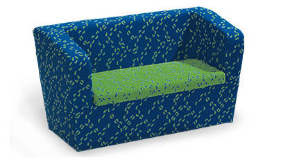 divano moderno / in tessuto / 2 posti / per bambini