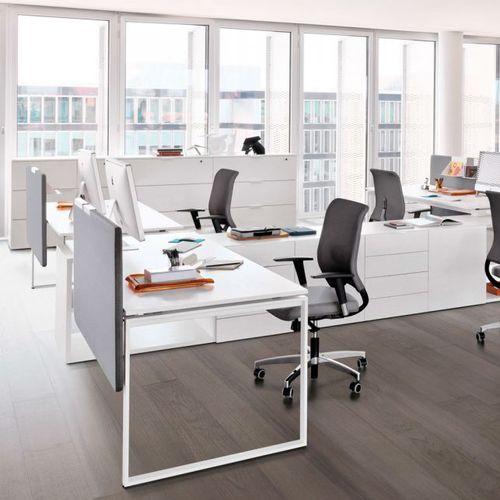 scrivania per open space / in melamminico / moderna / contract