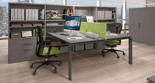 scrivania in melamminico / moderna / contract / con vano contenitore