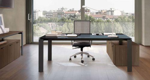 scrivania direzionale / in metallo / in vetro / moderna