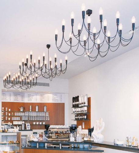 lampadario moderno / in vetro / in metallo / LED