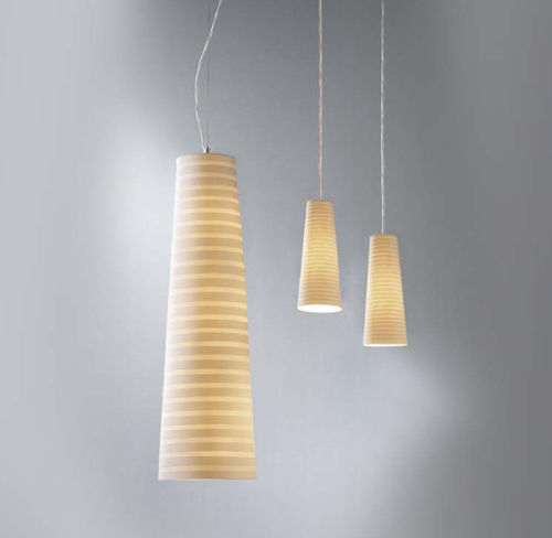 lampada a sospensione / moderna / in tessuto / a bassa tensione