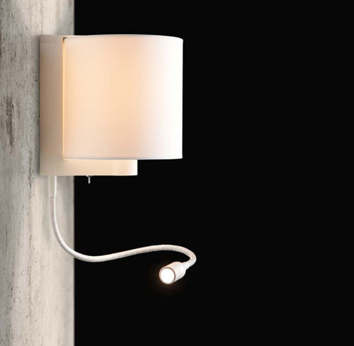 applique moderna / in tessuto / LED / tonda