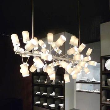 lampadario moderno / in porcellana / a incandescenza