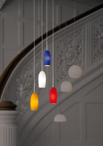 lampada a sospensione / moderna / in alluminio / in vetro di Murano