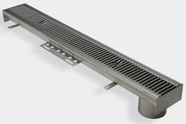 canaletta per terrazza / per parcheggio / in acciaio inox / modulabile