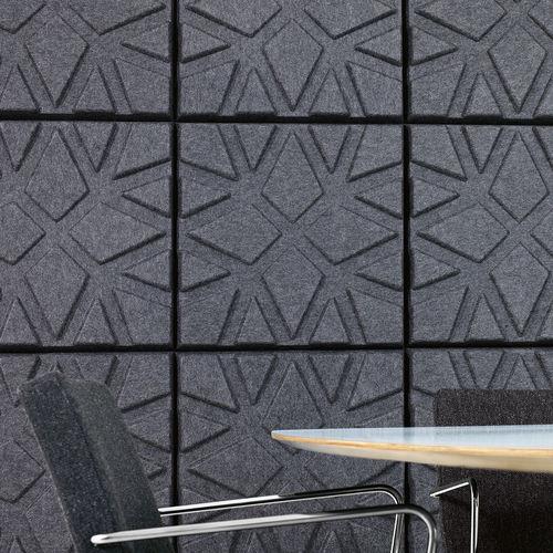pannello acustico a muro / in feltro / decorativo / colorato
