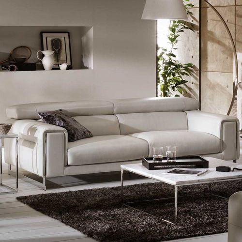 divano moderno / in pelle / 2 posti / 3 posti