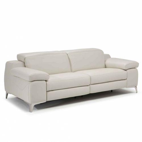 divano moderno / in pelle / in tessuto / 2 posti