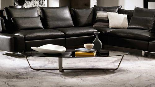 tavolino basso moderno / in legno / in vetro / in acciaio inossidabile spazzolato
