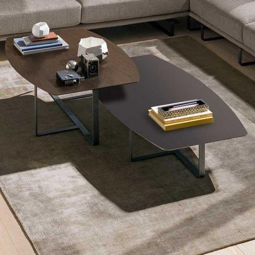 tavolino basso moderno / in metallo / in marmo / in quercia