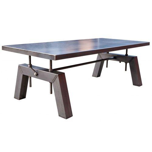 tavolo in stile industriale / in acciaio / rettangolare