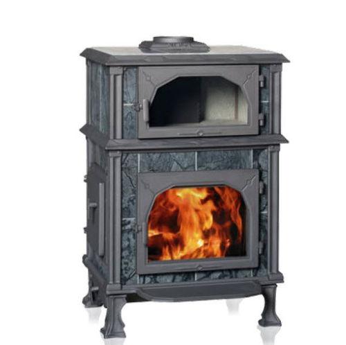 stufa a legna / tradizionale / in pietra / con forno