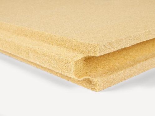 isolante termo-acustico / in fibra di legno / per interni / per tetto