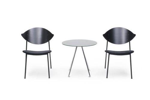 chauffeuse design scandinavo / in legno / in acciaio