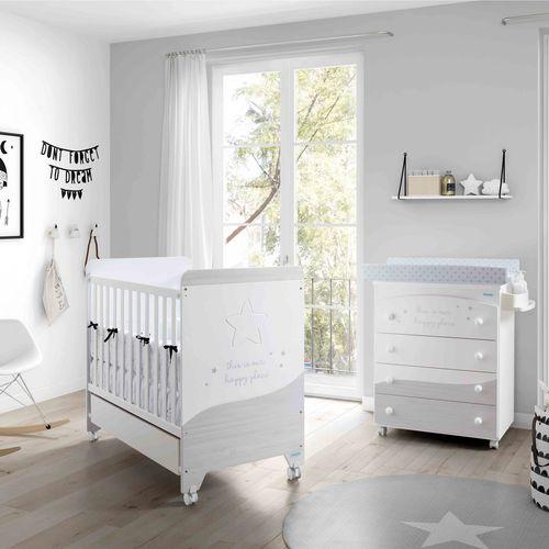 letto per neonato moderno / con rotelle / per bambini (unisex) / in legno laccato