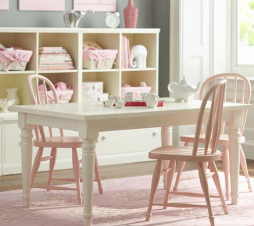 set tavolo e sedia moderno / in legno / per bambini / per bimba
