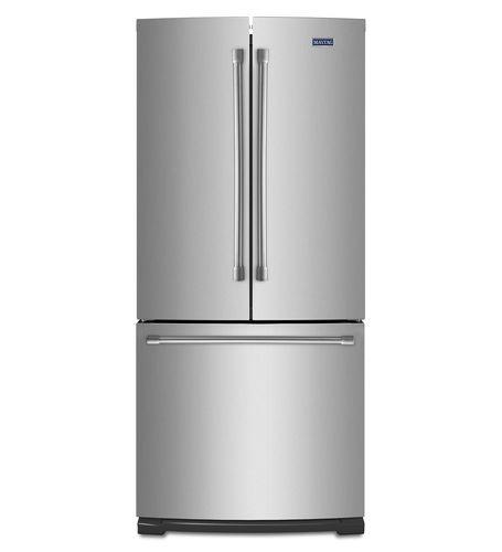 frigorifero combinato americano / in acciaio inox / con congelatore basso