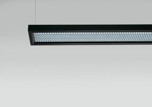 luce a sospensione / a lampada fluorescente / lineare / in termoplastica