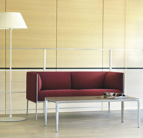 divano moderno / in tessuto / in pelle / in alluminio