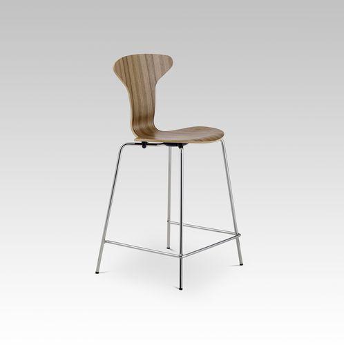 Sedia alta moderna / in tessuto / in compensato stampato / in acciaio MUNKEGAARD HOWE