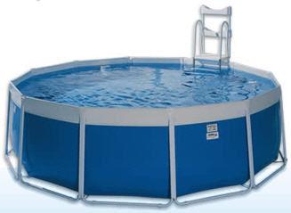 piscina fuoriterra / in poliestere / tubolare / da esterno