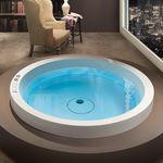 vasca da bagno rotonda / in acrilico / idromassaggio / di Marc Sadler