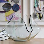 vaso moderno / in vetro smerigliato