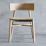 sedia moderna / in tessuto / in legno massiccio / imbottita