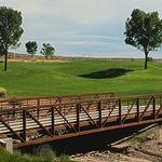 ponte reticolare / in acciaio / pedonale
