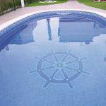 mosaico per piscina / da pavimento / in vetro / a motivi