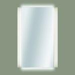 specchio a muro / moderno / rettangolare / in acciaio inossidabile